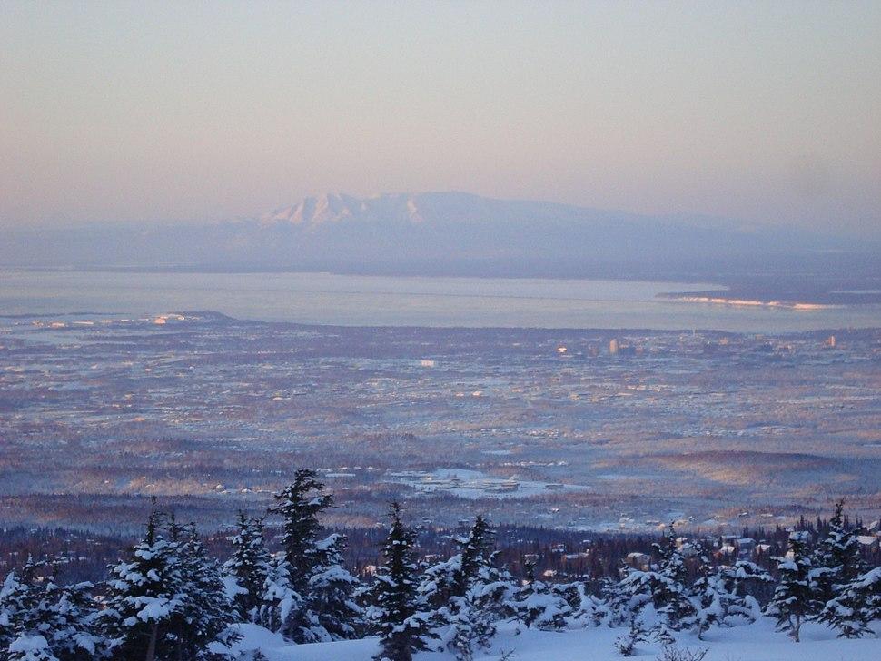 Anchorage Alaska and Sleeping Lady