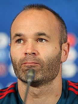 Andrés Iniesta in Spain-Iran press conference 2018-06-19.jpg
