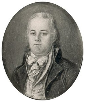 Andrew Ellicott - Andrew Ellicott in miniature portrait, 1799