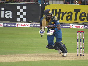 Angelo Mathews - Angelo Mathews batting