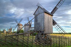 Leisi Parish - Angla windmills