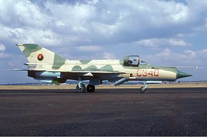 National Air Force of Angola - An Angolan Air Force MiG-21bis