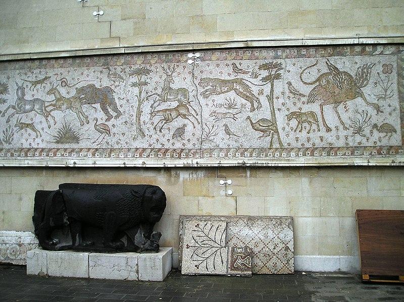 File:Animal and Bird mosaic Damascus Museum (4115513630).jpg