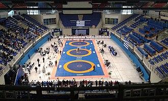 Ano Liosia Olympic Hall - Image: Ano Liosia Olympic Hall 01
