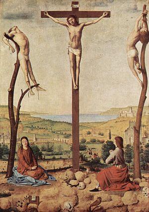 Crucifixion (Antonello da Messina) - Image: Antonello da Messina 027