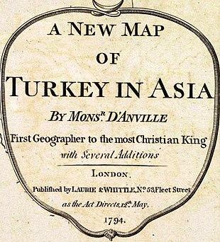 Anville, Jean Baptiste Bourguignon. Turkey in Asia. 1794 (G).jpg