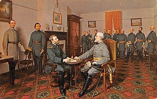 Conclusion of the American Civil War Surrender of the Confederate States at the end of the American Civil War