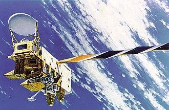 Aqua (satellite) - Image: Aqua satellite simulation