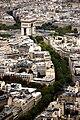 Arc de Triomphe as seen from Eiffel Tower level 3, Paris 13 September 2009.jpg