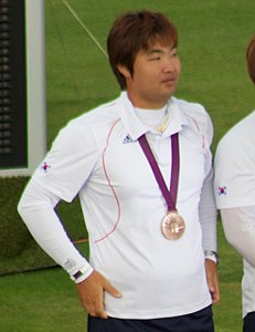 Archery at the 2012 Summer Olympics – Men's Team – Im Dong-Hyun.jpg