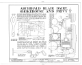 Archibald Blair Dairy, Smokehouse and Privy, 100 Nicholson Street, Williamsburg, Williamsburg, VA HABS VA,48-WIL,46A- (sheet 1 of 4).png