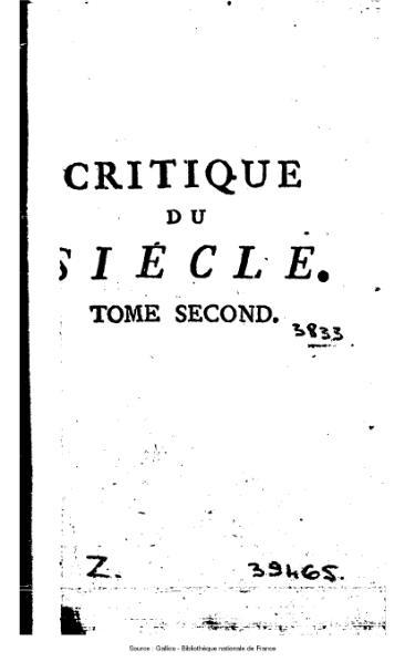 File:Argens - Critique du siècle ou Lettres sur divers sujets, tome 2.djvu