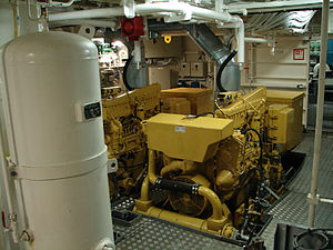 English: A Diesel generator on the Argonaute, ...