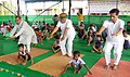 Arjun Ram Meghwal performing Yoga, on the occasion of the 3rd International Day of Yoga – 2017, in collaboration with the Ministry of AYUSH, at IRIIM Campus, Mourigram, Howrah, in West Bengal (2).jpg