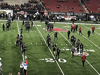 Arkansas State Red Wolves football - Arkansas State took on Troy in a decisive matchup for the Sun Belt Conference Title on Dec. 2nd 2017. Troy went on to win by a score of 32–25.