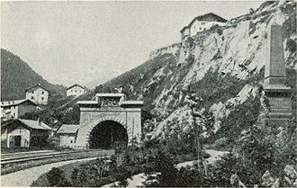 Arlberg Railway Tunnel - Eastern end in 1898