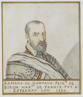 Battle of Steenbergen (1583) - French Marshal Armand de Gontaut, Baron de Biron, by Thierry Bellange.