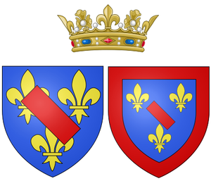 Marie Anne de Bourbon (1689–1720) - Arms of Marie Anne as Duchess of Bourbon