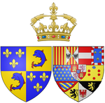 Description de l'image Arms of Marie Thérèse Raphaëlle of Spain as Dauphine of France.png.