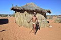 Arri Raats, Kalahari Khomani San Bushman, Boesmansrus camp, Northern Cape, South Africa (20351381588).jpg