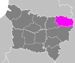 Location of Vervins in Picardy