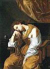 Artemisia Gentileschi - Mary Magalene as Melancholy 1621-22.JPG