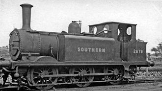 Ashford railway works - Image: Ashford Locomotive Depot A1X 0 6 0T geograph 2983959 by Ben Brooksbank