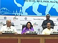 Ashok Gajapathi Raju Pusapati addressing the Tourism Investors Meet, organised by the FICCI, in New Delhi. The Minister of State for Culture (Independent Charge), Tourism (Independent Charge) and Civil Aviation.jpg