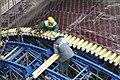Assembling formwork system in Moscow metro station Монтаж опалубки на станции метро Борисово в Москве.jpg