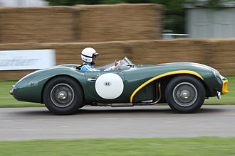 Reg Parnell - an Aston Martin DB3S, similar to the model, Parnell took numerous race wins, on the Goodwood Hill.
