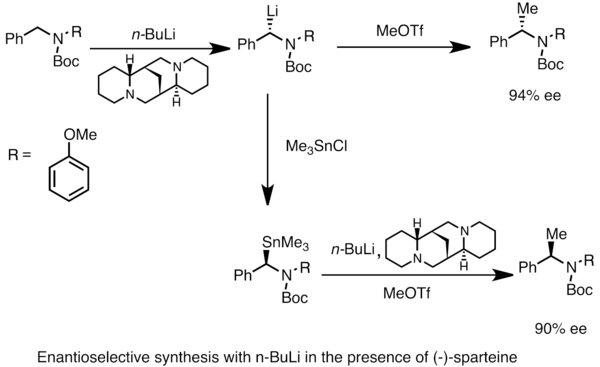 Asymmetric synthesis with nBuLi and (-)-sparteine