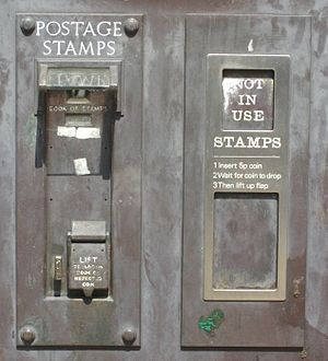 Stamp vending machines in the United Kingdom - Image: Attleborough SV Ms