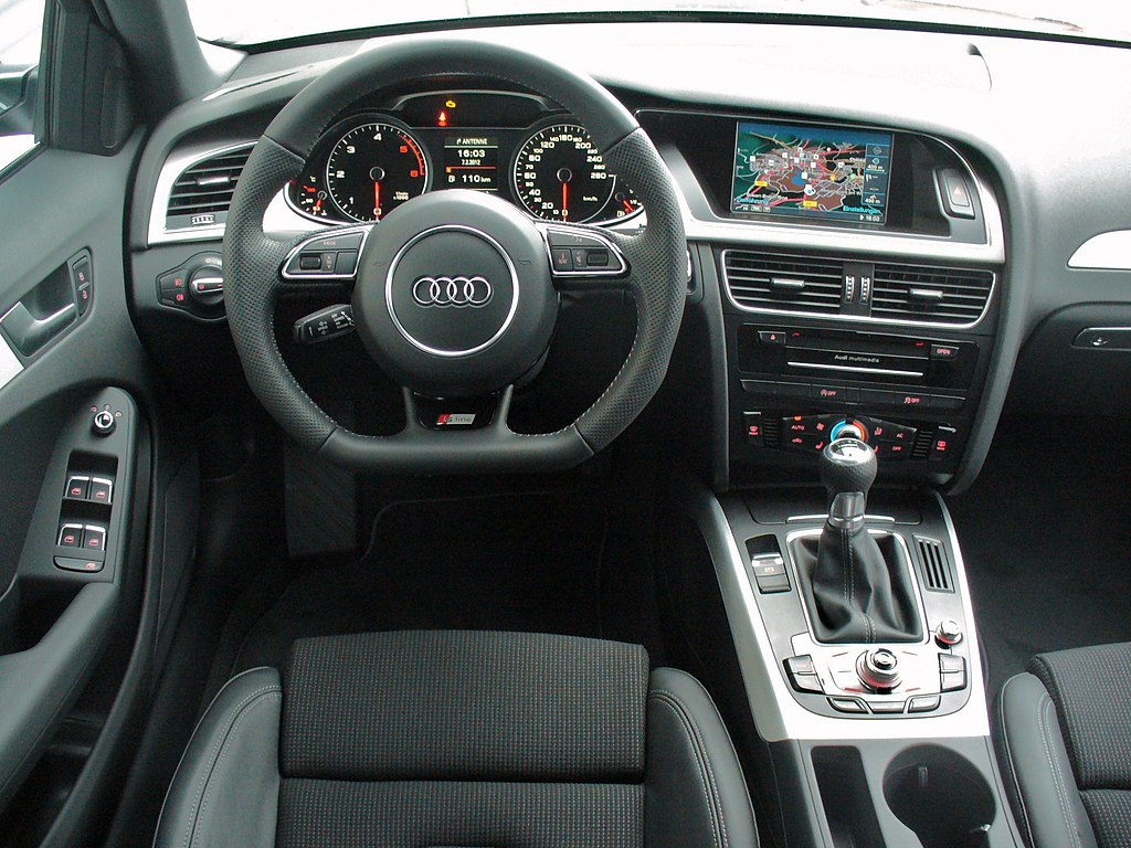 file audi a4 b8 facelift avant ambition s line 2 0 tdi daytonagrau interieur jpg wikimedia commons. Black Bedroom Furniture Sets. Home Design Ideas