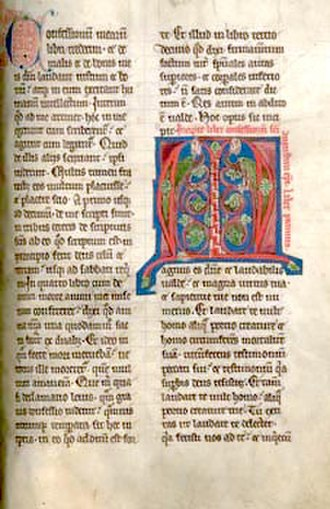 Imitation of Christ - 13th century copy of Confessions of Augustine, Book 7