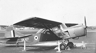 Auster AOP.9 - AOP.9 XK417 at the Farnborough Airshow in 1956, this aircraft served No. 652 Squadron RAF