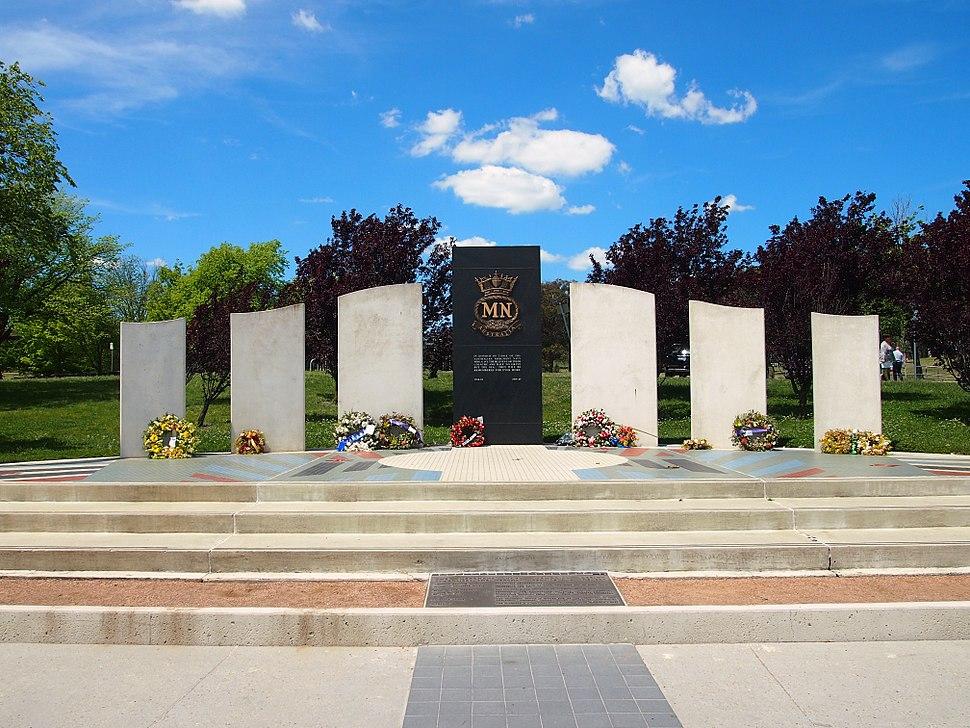 Australian Merchant Navy Memorial frontal view Nov 2012