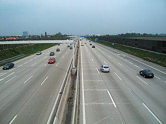 Süd Autobahn - A2 between Wiener Neudorf and Mödling