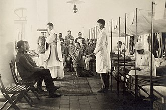 Military chaplain - Mass in an Austrian military hospital, 1916