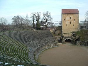 Avenches - Roman amphitheater in Avenches.