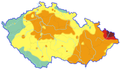 Average concentration of PM2.5 in Czech Republic 2011.png