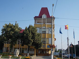 Brăila County - City hall in Ianca, the second largest urban locality in Brăila County
