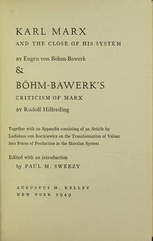 Böhm-Bawerk - Karl Marx and the close of his system, 1949 - 5832246 IT-ICCU-TO0-0319327 0005 h.tif