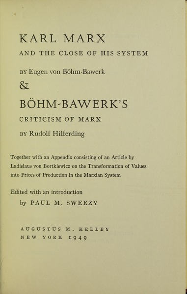Fichier:Böhm-Bawerk - Karl Marx and the close of his system, 1949 - 5832246 IT-ICCU-TO0-0319327 0005 h.tif