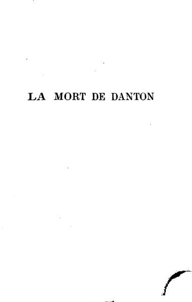 File:Büchner - La Mort de Danton, trad. Dietrich, 1889.djvu