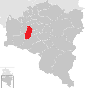 Location of the municipality of Bürs in the Bludenz district (clickable map)