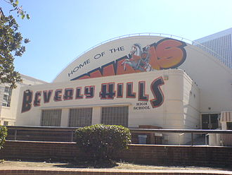 Betty White - Betty graduated from Beverly Hills High in 1939. Picture here is the school's gymnasium