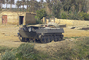 BMD-1 - A destroyed Iraqi BMD-1 IFV sits near an abandoned structure in Northern Iraq, during Operation Iraqi Freedom, 2 April 2003.