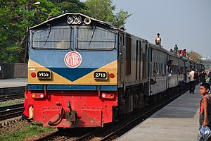 Bangladesh Railway Class 2700 - 2719 with commuter train