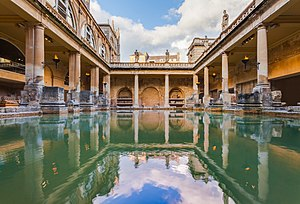 Roman Baths (Bath) - Roman Baths, as without any new architectural elements