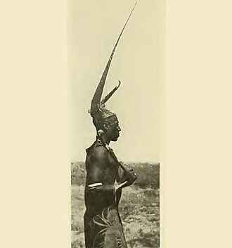 Ila Headman's son in Southern Zambia, Cattle formed an important part of their society. Ba-Ila man.jpg